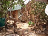 The bush chalet from outside